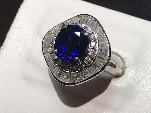 サファイア  宝石 指輪 リング ダイヤモンド リング ジュエリー 宝飾品