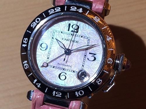 カルティエ Cartier パシャC メリディアン W3107099 SS×革 クリスマス限定 買取 渋谷