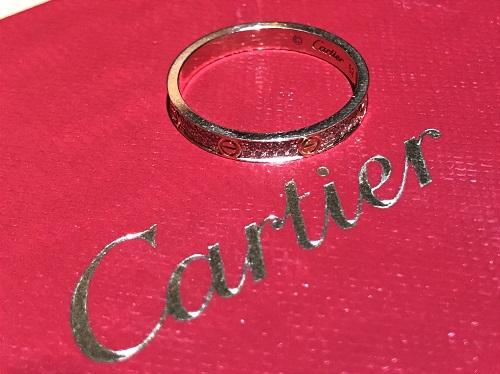 カルティエ(Cartier) ラブリングSM 二重フルダイヤ 750YG 1.9g #52 保証書有 神戸三宮 買取