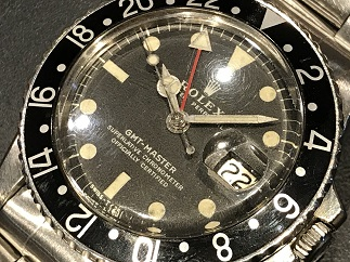 ROLEX ロレックス GMTマスター Ref.1675 黒ベゼル アンティークロレックス 時計買取 福岡 天神 質屋 博多 赤坂 薬院