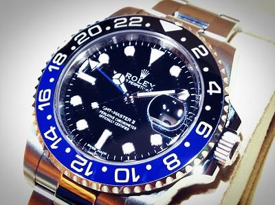 ロレックス(ROLEX)GMTマスターⅡ Ref.116710BLNR バットマンベゼル