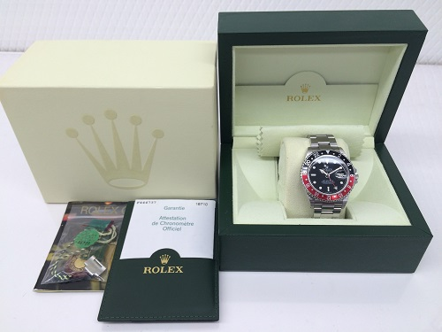 ロレックス(ROLEX)買取 GMTマスター買取 16710 付属品完備 美品 赤黒ベゼル 京都北山店 腕時計買取 左京区 北区 上京区