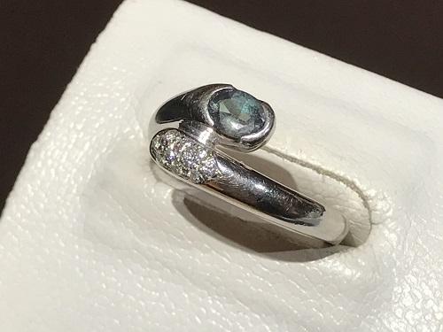 アレキサンドライト 指輪 リング プラチナ ダイヤ 宝石