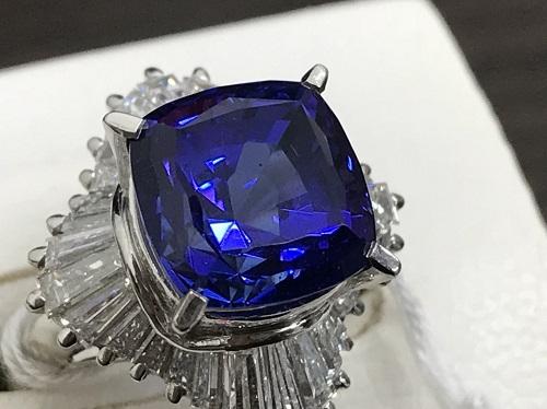 タンザナイト Pt900 1.42ct 8.1g 宝石 ダイヤモンド 出張買取