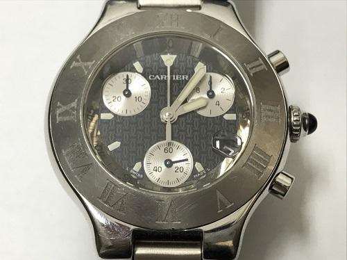 カルティエ(Cartier)買取 マスト21 2424 クロノスカフ 保証書有 北山 時計買取 左京区 北区 マルカ