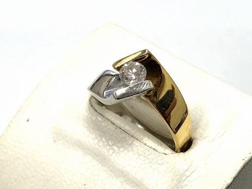 K18/Pt900 ダイヤモンドリング買取 0.31ct ダイヤモンド買取 宝石買取 MARUKA心斎橋店