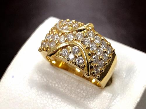 ダイヤモンドリング イエローゴールド 18金 ノンブランド ジュエリー 京都大宮店