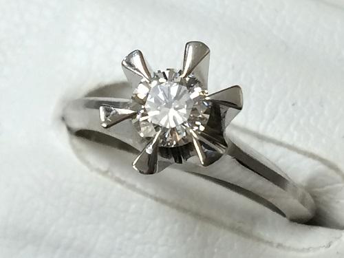 ダイヤモンドリング Pt900 プラチナ 0.4ct 立爪 宝石 アクセサリー 6.3g 貴金属 MARUKA 京都北山店 ダイヤ・プラチナのお買取り