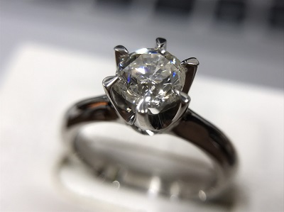 Pt900ダイヤモンド プラチナ リング 0.6ct 一粒  買取 渋谷 マルカ