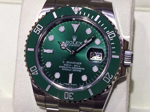 ロレックス ROLEX サブマリーナ 116610LV G番 グリーンサブ 買取 銀座