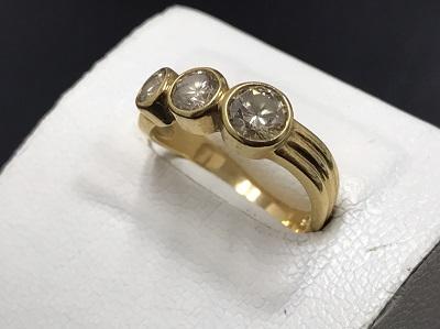 メレダイヤモンド 1.00ct リング K18 金 宝石 ダイヤモンド 高価買取 七条店