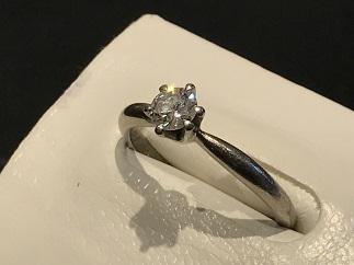 ダイヤモンドリング Pt850 0.31ct Iカラー SI2  プラチナジュエリー 宝石買取 福岡 質屋 天神 大名 博多 赤坂 薬院