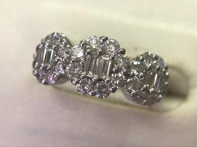 ダイヤモンド リング 1.03ct K18WG ダイヤモンド 買取 三宮 元町 神戸
