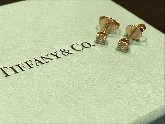 Tiffany & Co ティファニー スタッドピアス ピンクゴールド ダイヤモンド ブランドジュエリー買取 福岡 天神 大名 赤坂 薬院 博多