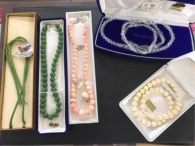 骨董 象牙 珊瑚 白水晶 鼈甲 ネックレス 象牙買取 象牙買取 三宮 元町 神戸