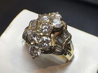 ダイヤモンドリング K18 2.42ct 福岡 ジュエリー買取 宝石買取 天神 大名 赤坂 薬院 博多