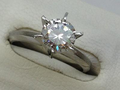 ダイヤモンド リング ラウンド ブリリアントカット 1.02ct PT900 立爪 ダイヤモンド買取 神戸 三宮 元町