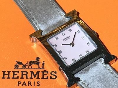 HERMES(エルメス) Hウォッチ HH1.210  シェルピンク 文字盤12PD 出張買取 東京