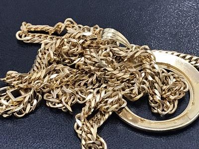 K18 金 ネックレス ペンダント枠 金製品 地金 高価買取 七条店