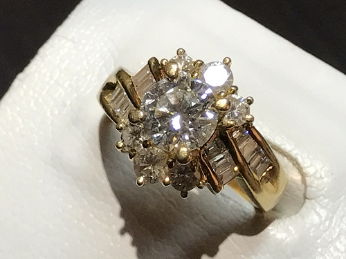指輪 リング  ダイヤ 金 K18