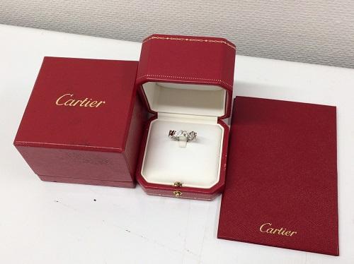 カルティエ Cartier シグネチャーダイヤリング 750WG ジュエリー 買取 銀座
