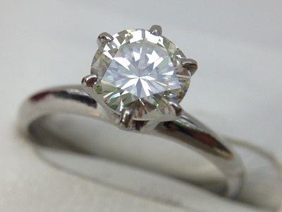 ダイヤモンド リング 1.03ct ラウンドブリリアントカット PT900 ダイヤモンド買取 神戸 三宮 元町
