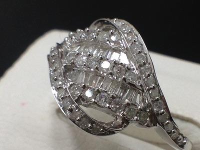 プラチナ  Pt900ダイヤモンド1.25ctリング  ジュエリー高価買取り 東京渋谷 マルカ