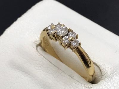 MIKIMOTO ミキモト ダイヤモンドリング K18 金 0.29ct 宝石 高価買取 七条店