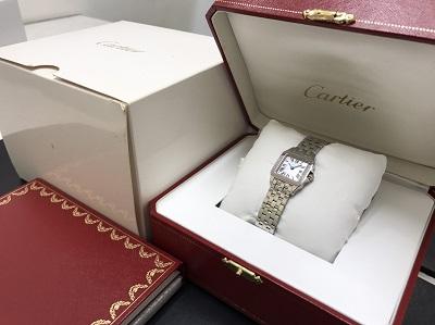 CARTIER カルティエ サントスドゥモワゼル SS ピンクシェル文字盤 腕時計 高価買取 七条店