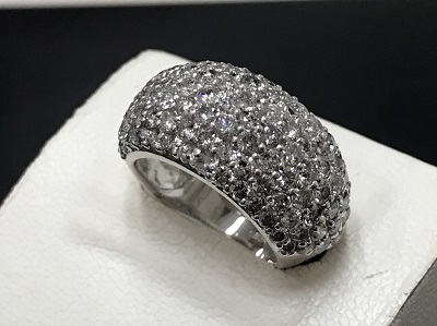 メレダイヤモンド 3.00ct リング K18WG ホワイトゴールド 宝石 高価買取 七条店
