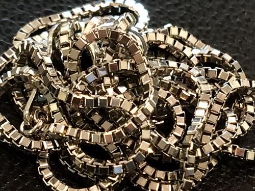 14金ホワイトゴールド K14WG ベネチアンチェーン 貴金属 3.8グラム 金製品 MARUKA 京都北山店 ゴールド買取
