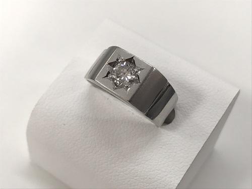 プラチナリング ダイヤモンド 0.36カラット PM 印台 ノンブランド 京都大宮