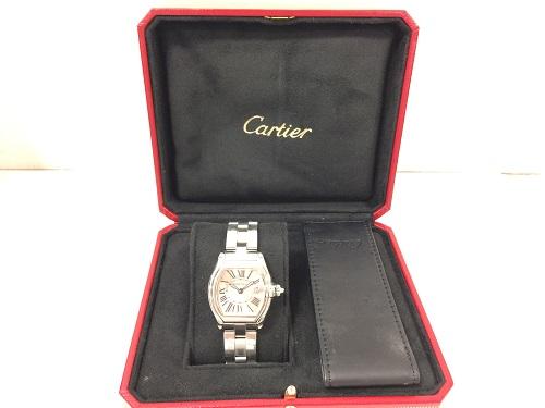 カルティエ(CARTIER) ロードスターSM ステンレス ピンク文字盤 レディース MARUKA 京都北山店 時計を売るなら!