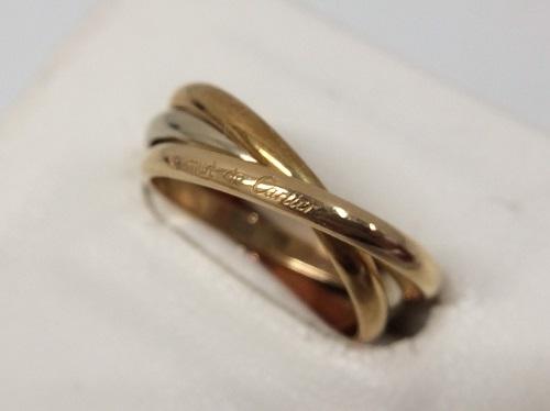 カルティエ Cartier トリニティリング 750 スリーゴールド 買取 銀座 ジュエリー