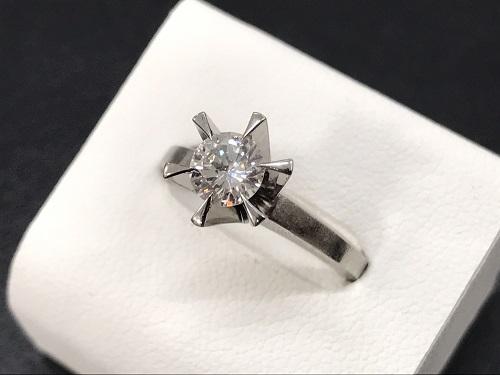 ダイヤモンドリング プラチナ ダイヤ0.56カラット 宝石買取 京都大宮