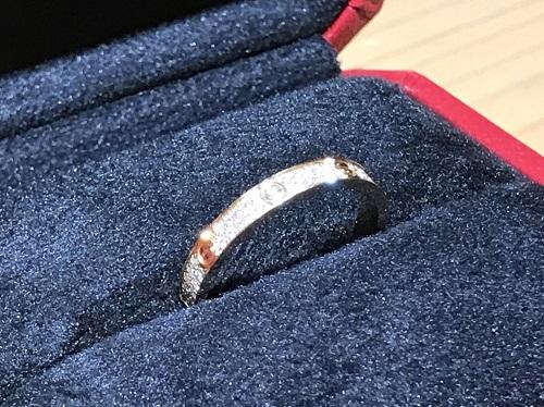 カルティエ(Cartier) ラブリングSM フルダイヤ 750YG 付属品有 宅配買取