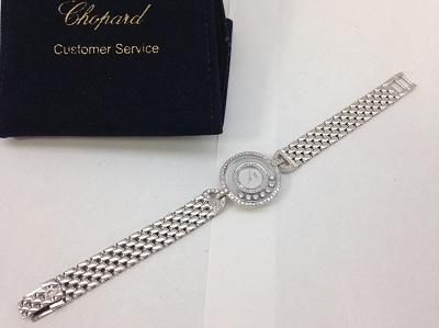 ショパール(Chopard) ハッピーダイヤモンド 7P ダイヤ 2連ベゼルダイヤ ラグ ダイヤ 4097 750WG ショパール買取 神戸 三宮 元町