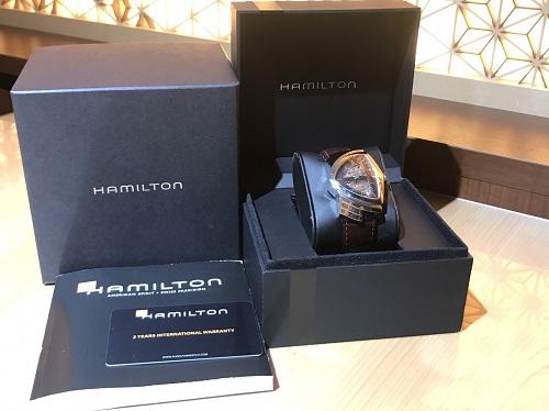 ハミルトン HAMILTON ベンチュラ H245150 SS×革 時計 買取 渋谷