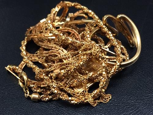 貴金属 K18 金製品 ネックレス 指輪など 750 アクセサリー 32.4グラム MARUKA 京都北山店 貴金属の買取り