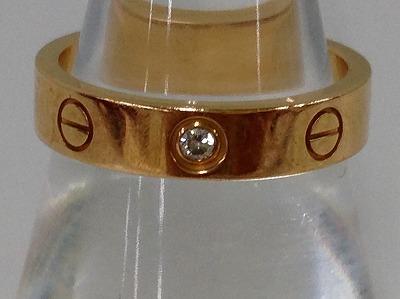 カルティエ(Cartier)ラブリング買取 1ポイントダイヤ 750 ブランドジュエリー買取 MARUKA心斎橋店