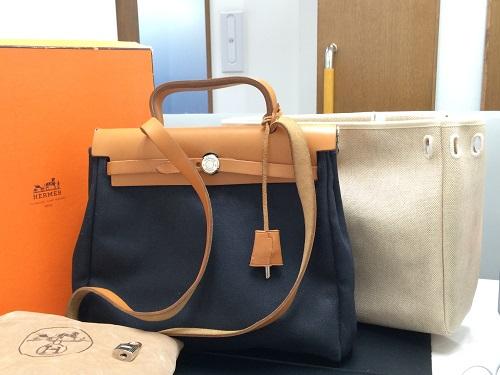 エルメス(HERMES) エールバッグ トワルアッシュ 付属品完備 2WAYバッグ MARUKA 京都北山店 エルメス売るならマルカで!