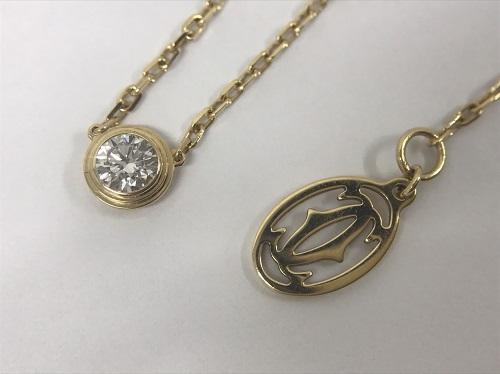 カルティエ Cartier ディアマンレジェドゥネックレスLM ダイヤモンド 750YG 買取 渋谷