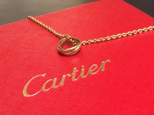 カルティエ Cartier ベビートリニティネックレス 750 ジュエリー 買取 渋谷