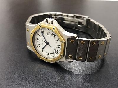 Cartier カルティエ サントスオクタゴン オートマチック コンビ 腕時計 高価買取 宅配買取