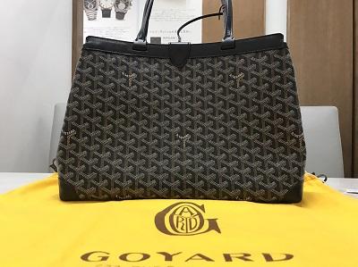 GOYARD ゴヤール ベルシャスPM PVC 黒 美品 高価買取 七条店