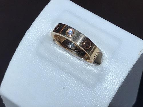 カルティエ(CARTIER) ミニラブリング ジュエリー リング 指輪 750 K18 ダイヤ 1PD ブランド