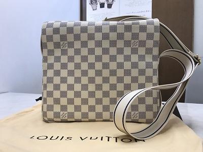 LOUIS VUITTON ルイヴィトン ナヴィグリオ ダミエ アズール N51189 美品 高価買取 七条店