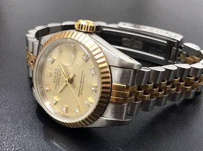 ROLEX ロレックス デイトジャスト レディース Ref.69173G コンビ 腕時計 高価買取 七条店