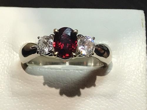 ルビー ダイヤ 指輪 プラチナ リング ジュエリー 宝飾品 買取