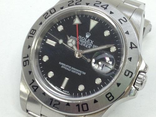 ロレックス(ROLEX) エクスプローラーⅡ 16570 ステンレス 旧型 腕時計 付属品完備 MARUKA 京都北山店 ロレックス売るならマルカで!